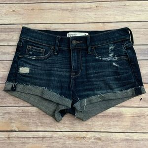 Abercrombie & Fitch Distressed Denim Shorts